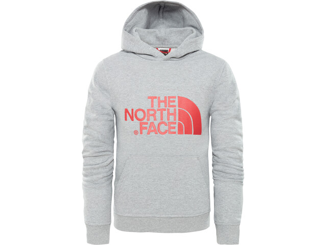 The North Face Drew Peak Pullover Hoody Youth TNF Lightgrey Heather/Atomic Pink